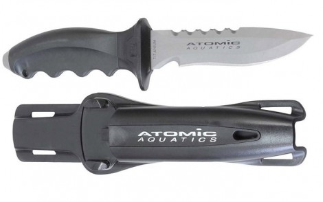 Atomic Aquatics Ti6 Titanium Tip Knife - Pointed