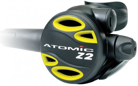 "Atomic Aquatics Z2 Octo Yellow 36"" Octopus Regulator"