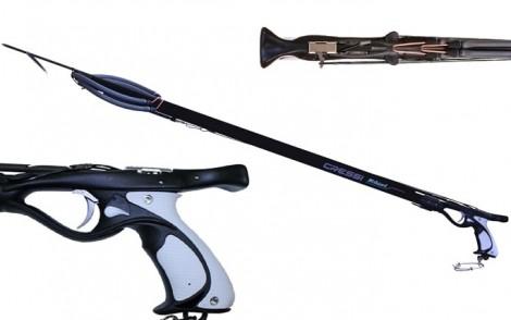Cressi-Sub Mohawk Twin 14mm Rubbers Rail Gun