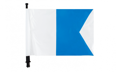 Ocean Hunter Flag & Pole - suits Inflatable Float