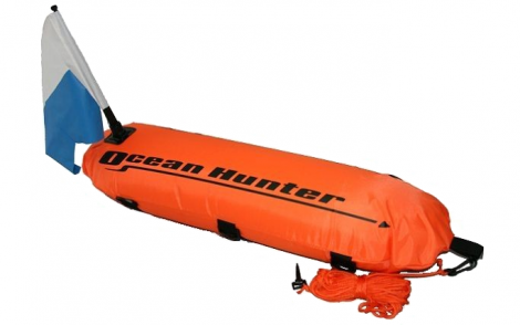 Ocean Hunter Inflatable Float w Line & Flag