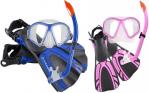 Ocean Pro Turtle Mask, Snorkel & Fin Set - KIDS