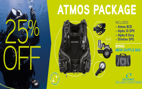 Oceanic Atmos Scuba Package - 25% OFF