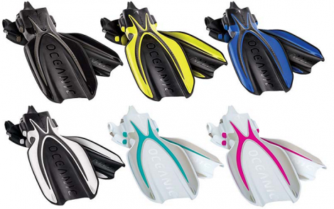 Oceanic Manta Ray Fins w SS Spring Heel Straps