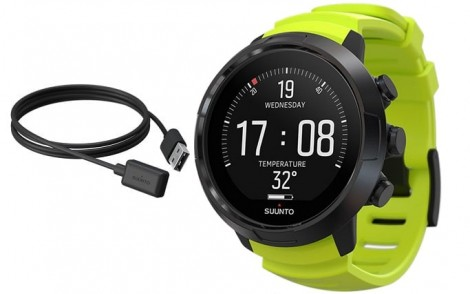 Suunto D5 Black Lime w USB Cable