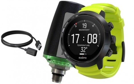 Suunto D5 Black Lime w USB Tank POD Bundle